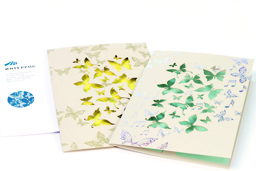 Открытки на дизайнерской бумаге